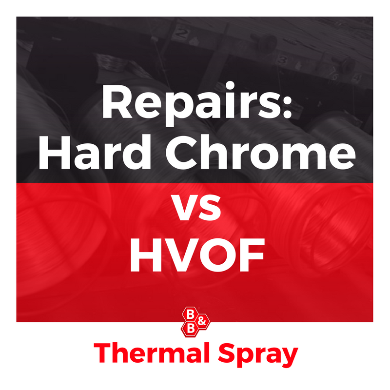 Repair Hard Chrome vs thermal spray